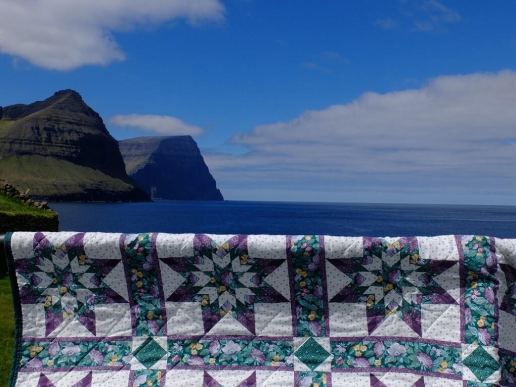 Sterren quilt op Faroër eiland