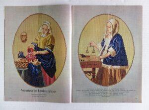 Vermeer in kruissteekjes