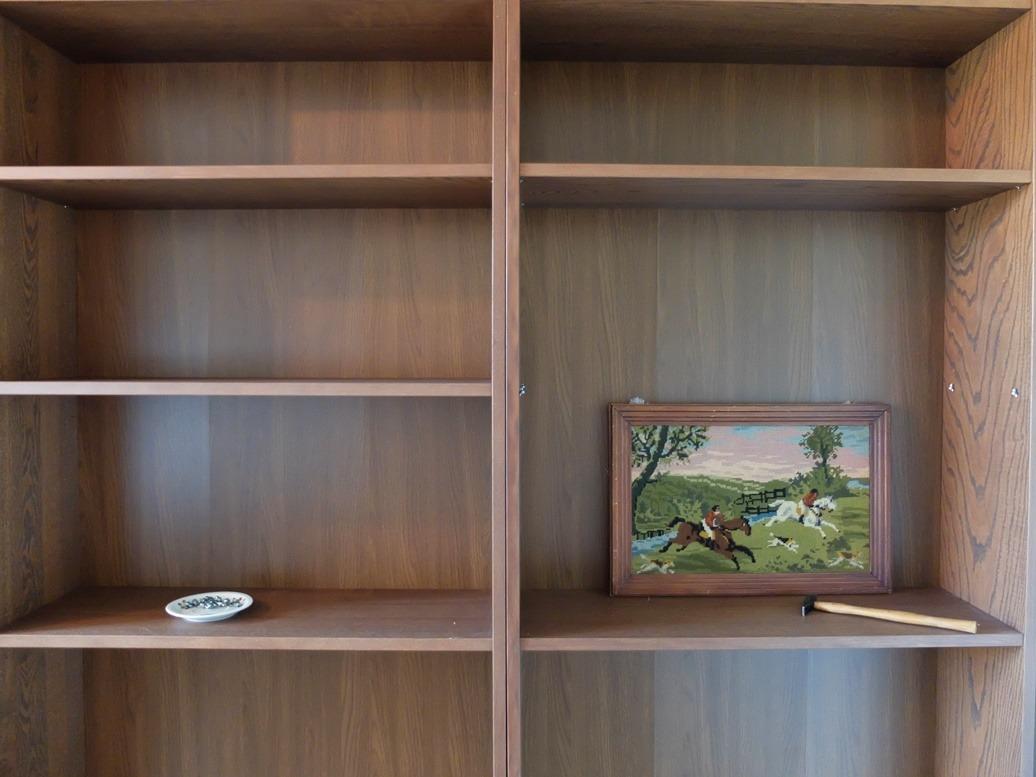 boekenkasten vullen en een gratis merklap