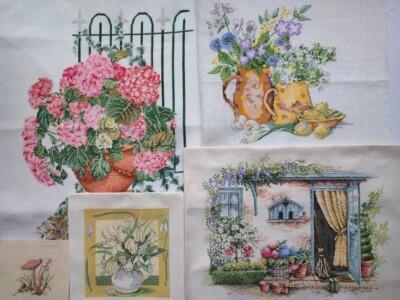 Vijf borduurwerkjes