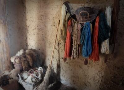 handgeverfde wol